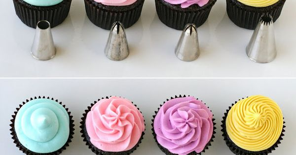 How to frost cupcakes- to know what frosting tips to use!