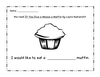 If You Give A Moose A Muffin Worksheet Preschool Letters Laura