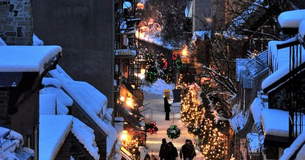 Christmas in Quartier Petit Champlain, in Quebec city, Canada