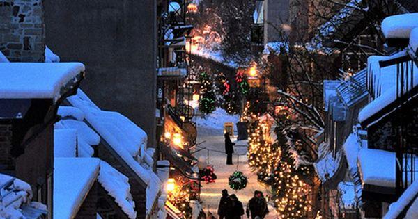 Christmas in Quartier Petit Champlain, in Quebec city, Canada