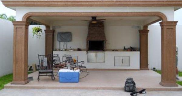 Jardin con asador de carne buscar con google my house for Decoracion de jardin con asador