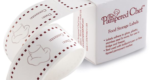 4 75 Food Storage Labels The Pampered Chef Have