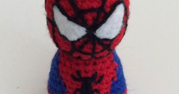 Free Spiderman Amigurumi Crochet Pattern : Hombre Arana / Spiderman Amigurumi - Madelenon