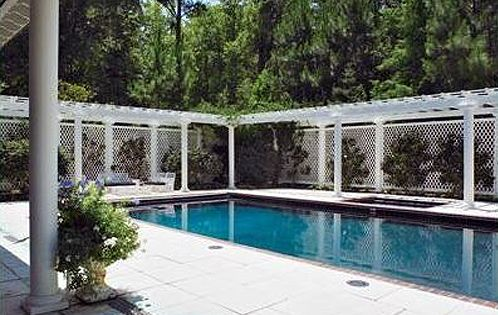 mediterranean pergola and lattice nice awesome pool fence ideas pinterest vinyls fence design and the white