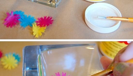"DIY ""Stained Glass"" Candle Holders with Modge Podge DIY Craft"