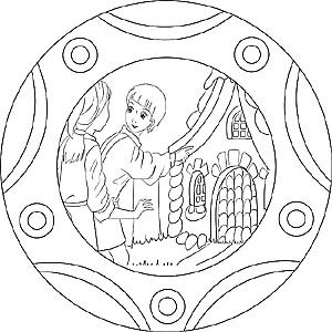 Mandala Und Ausmalbild Hansel Und Gretel Hansel Und Gretel Kindergarten Hansel Und Gretel Marchen Basteln