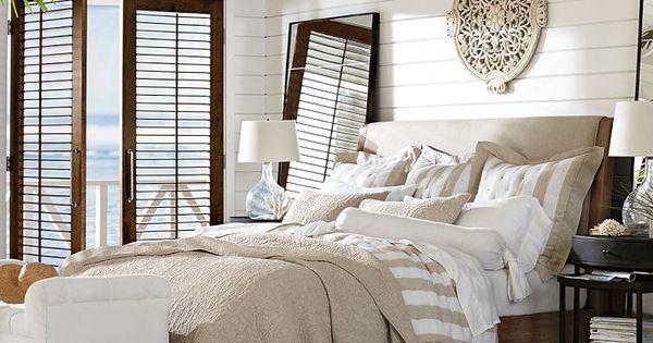 Best Adella Upholstered Platform Bed Headboard Pottery Barn 640 x 480