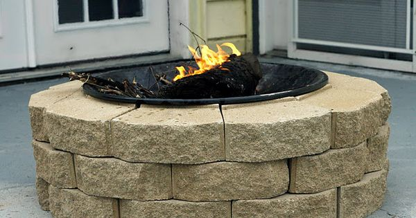 diy firepit for $30 - back patio idea