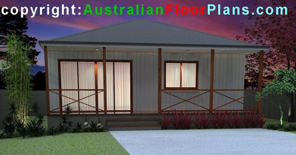 775 Sq Ft 58 M2 Australian 2 Bedroom Concept Plans 2 Etsy Cabin House Plans Cabin Style Mother In Law Cottage