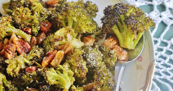 Broccoli florets, Pecans and Vinaigrette on Pinterest