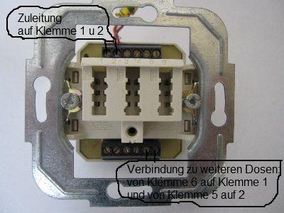 Telefon Anschliessen Telefon Elektrotechnik Elektroinstallation