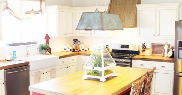 How To Create Faux Reclaimed Wood Countertops Using New