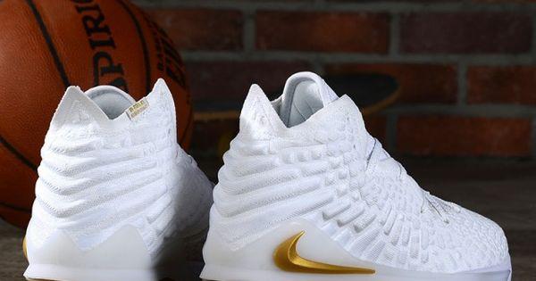 Nike Lebron 17 Men S Summit White Gold Classic Basketball Shoes Nike018015 In 2020 Basketball Shoes Nike Lebron Lebron 17