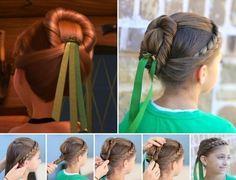 Flecht Und Hochsteckfrisuren Aus Dem Kinofilm Frozen Anna Haarstyling Kinderfrisuren Geflochtene Frisuren Frisur Hochgesteckt