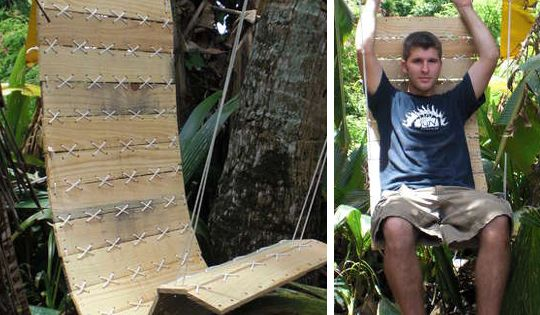 Pallet Projects - DIY make your own outdoor chair using pallet wood.