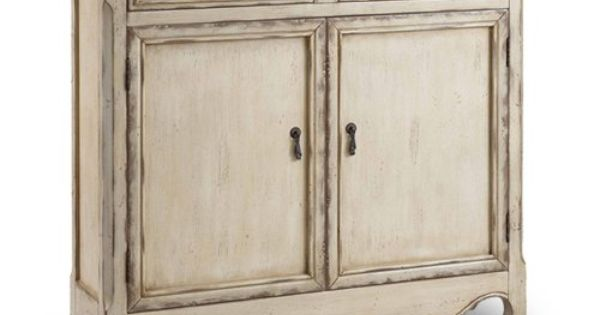 Distressed Cabinet I Like The Country Cream Color For