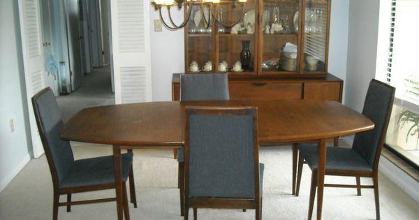 Beautiful Dillingham Danish Mid Century Modern Walnut Dining Room Set EBay