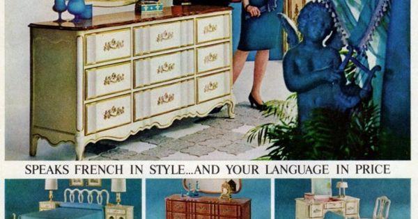 Provencaux bedroom furniture from bassett 1964 - Bassett bedroom furniture 1970 s ...