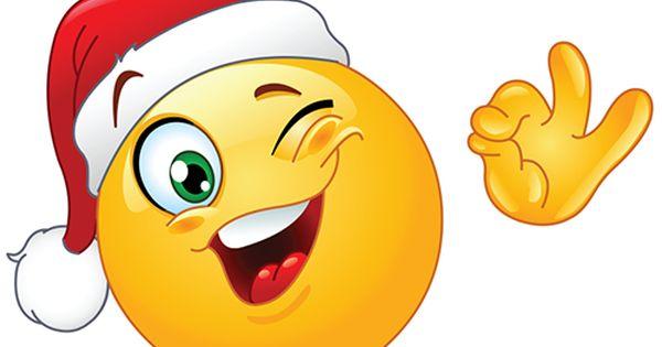 Winking Santa Smiley Funny Emoji Faces Funny Emoticons Smiley