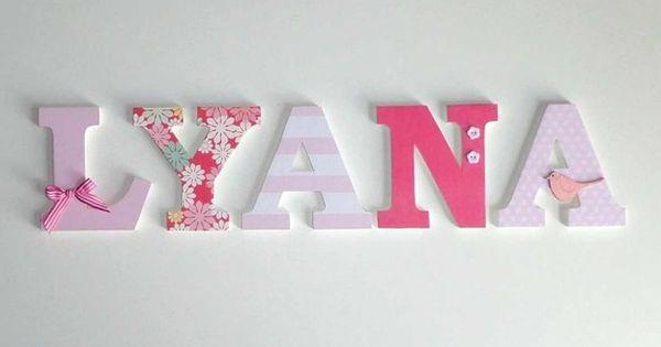 lyana d co lettres en bois pr nom lyana chambres de fille pinterest lettre en bois. Black Bedroom Furniture Sets. Home Design Ideas