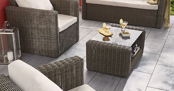 Salon De Jardin En Rotin Collection Soron Castorama Home Jardin Et V Randa Pinterest
