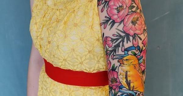 Kyla Roma's beautiful sleeve I like how the birds and flowers and