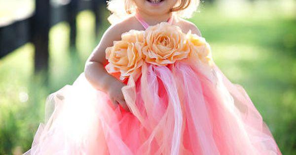 Custom Order for Mallory Grey Tulle Long Tutu Dress Blush ...
