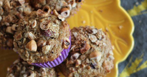 Pear, Hazelnut and Cardamom Muffins | www.purplehousecafe.com | Bake ...