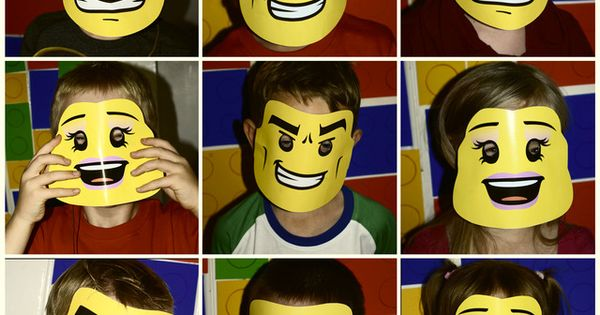 Lego mask inspo for Lego movie Halloween costume