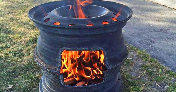 Old Tire Rims Make For The Best DIY Fire Pits | Fire pits ... - photo#45