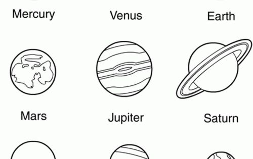 nine planets coloring pages - photo#9