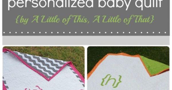 Modern Baby Quilt Tute by sondra