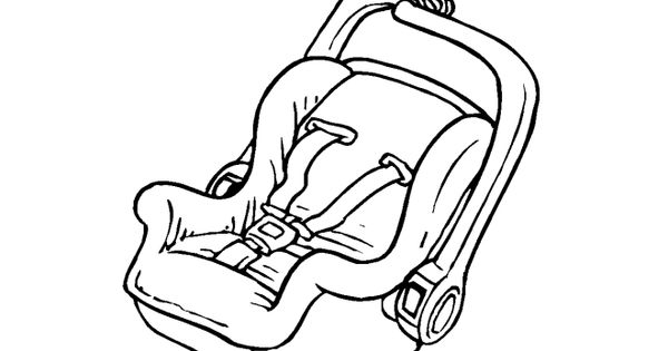 Baby Car Seat Drawing Baby items coloring pages | Pics I ...