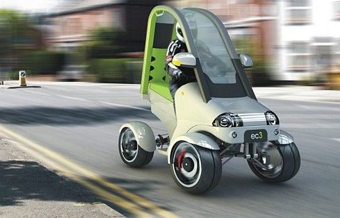 Electric Urban Quad Bike Concept For Green Highways Based On A