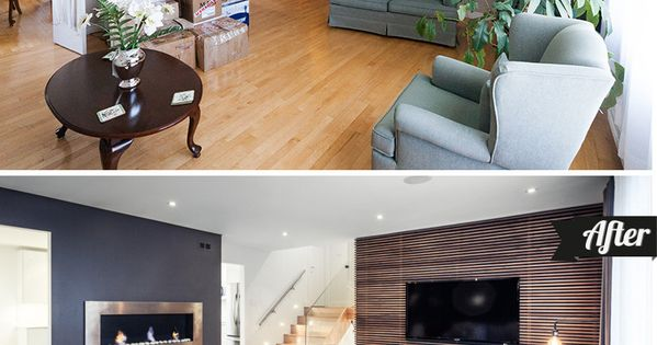 MODERN LIVING ROOM TRANSFORMATION! These DIYers took their 80s style home and