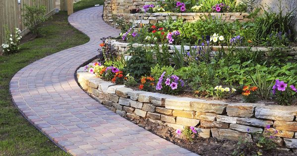 Small Retaining Wall Ideas Terraced Garden Design Ideas At
