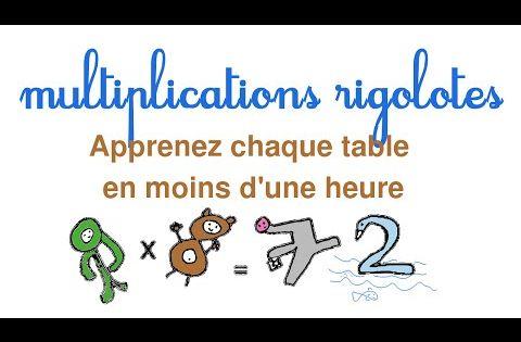 Apprendre facilement les tables de multiplication for Apprendre les tables facilement