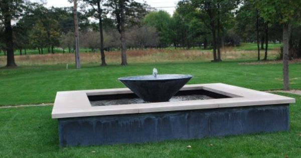 How To Make A Concrete Fountain Basin Google Search Concrete Fountains Garden Inspiration Outdoor