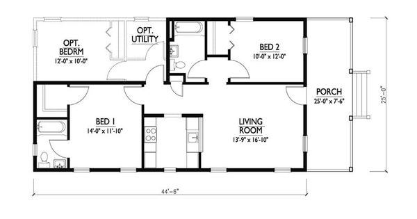 Katrina cottage plan by w a lawrence cabin plans for Katrina cottage floor plans