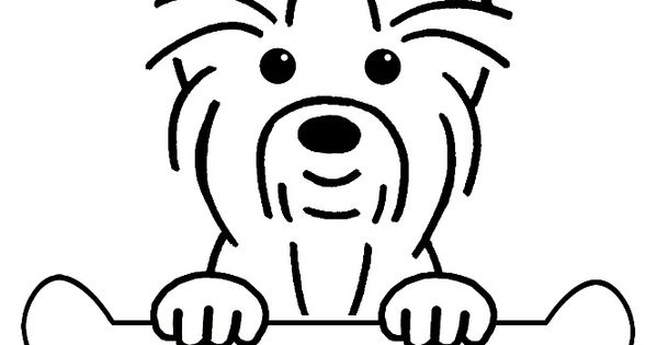 Line Art Yorkie : Gallery for gt yorkie terrier coloring pages tattoos