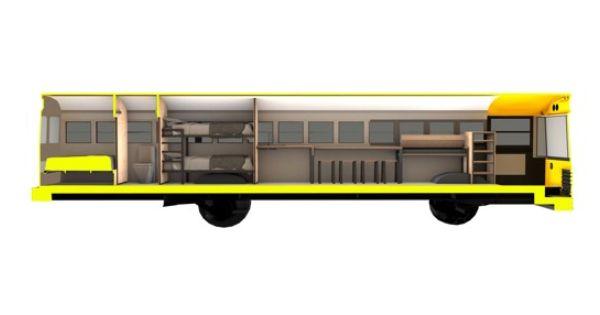 cool bus skoolie rv sample floor plans school bus