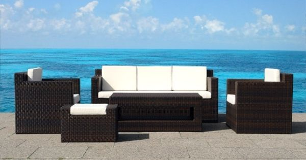 Perfect For The Large Family, Our Roma High End Wicker Outdoor Furniture Set  Comfortably Seats 5. Made Of BelianiFX® Poly Wicker, The Set Is Optimiu2026 Part 17
