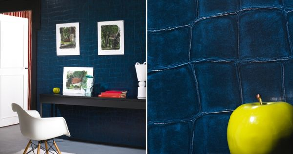Wall Paper - Elitis -blue | Wall covering - Wall Paper | Pinterest ...
