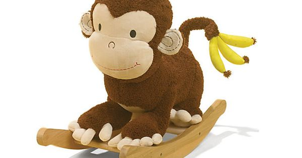 Mocha Monkey Rocker on OneKingsLane.com: Whoa, it's Curious George! Rocker Monkey Kids