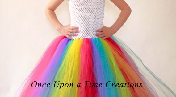 Rainbow Birthday Tutu Dress Photo Prop Halloween