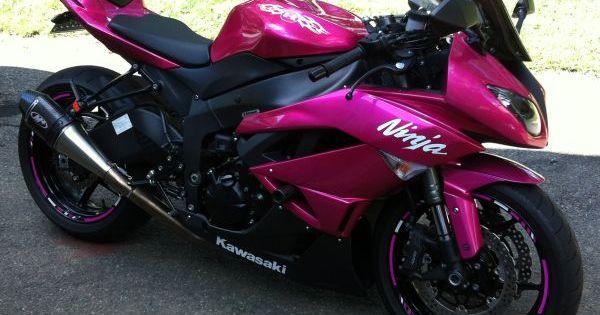 Hot Pink Motorcycle 2009 Kawasaki Ninja Zx Motorcycles