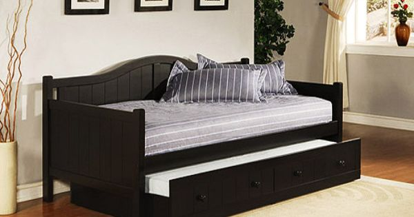 Staci Daybed With Trundle, Black