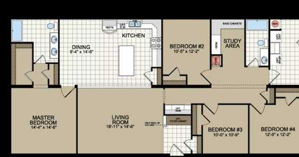 Floor Plan Of Redman Homes Mobile Manufactured Home Via Mhvillage Com House Floor Plans Mobile Home Floor Plans Manufactured Homes Floor Plans