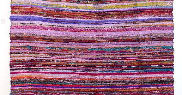 Alfombra tejida a mano de trapo india alfombra alfombra for Alfombras indias