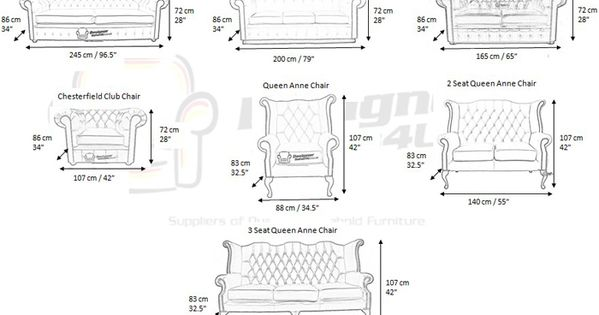 Chesterfield Armchair Dimensions Google Search